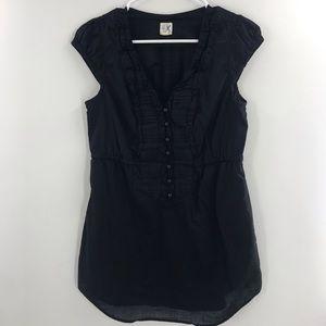 Anthro Edme & Esyllte Black Tunic Size 6 001